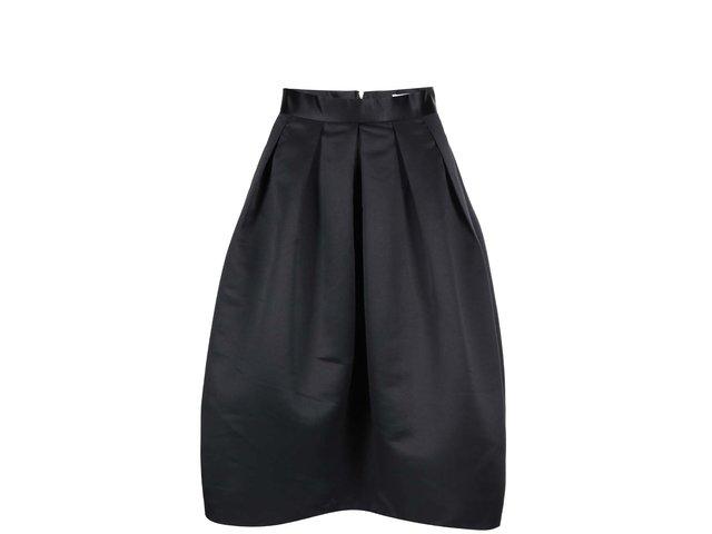 Černá lesklá sukně s kapsami Closet