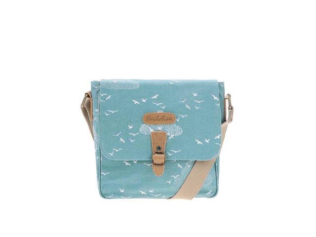 Modrá crossbody kabelka s ptáčky Brakeburn Birds And Clouds