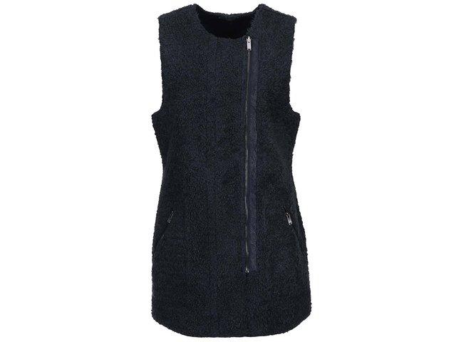 Modrá oboustranná delší vesta ONLY Carolyn