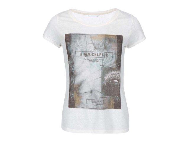 Krémové tričko s potiskem ONLY Milla Chapter