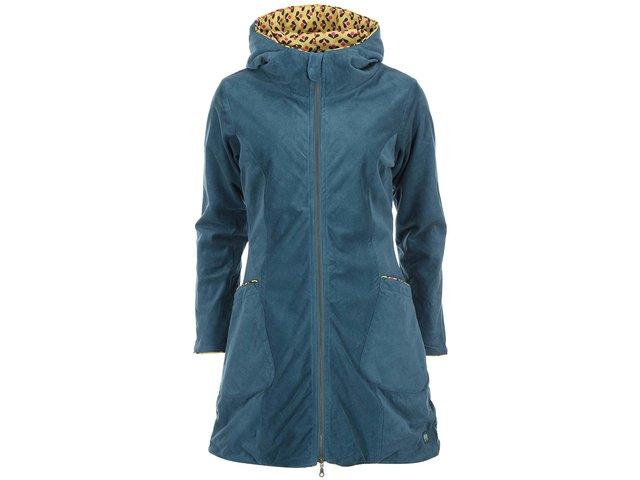 Modrý manžestrový kabát s kapucí Tranquillo Eira