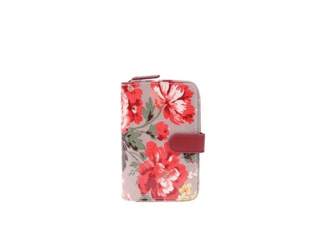 Béžová květovaná peněženka Cath Kidston