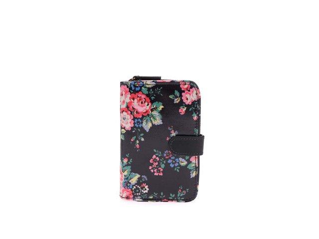 Černá květovaná peněženka Cath Kidston