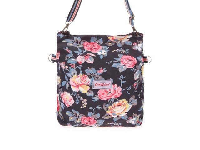 Černá oboustranná kabelka s květinami Cath Kidston