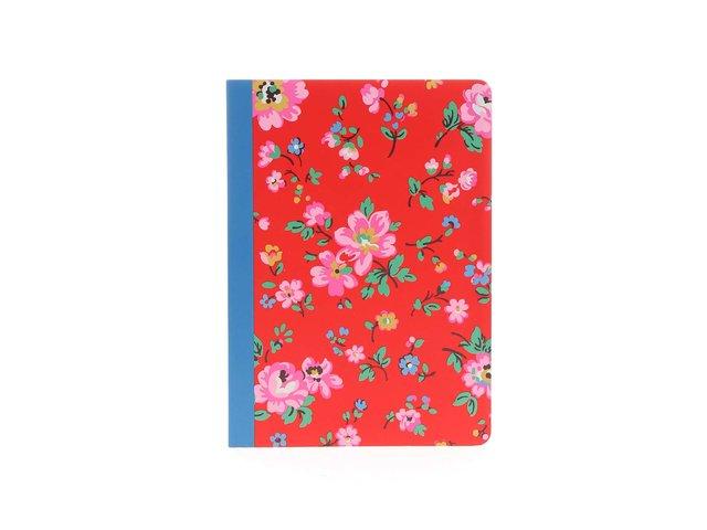Červený notes A5 s květinovým motivem Cath Kidston