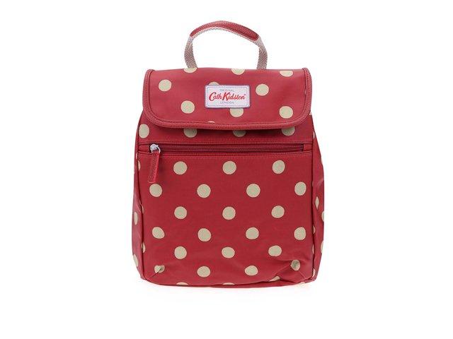 Červený puntíkovaný batoh Cath Kidston