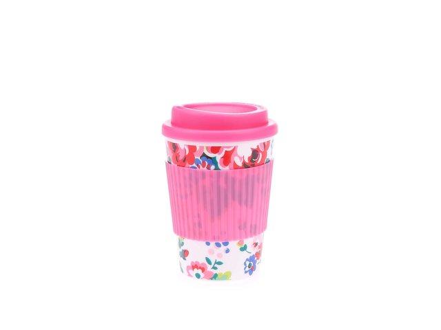 Růžový cestovní hrnek s motivem květin Cath Kidston