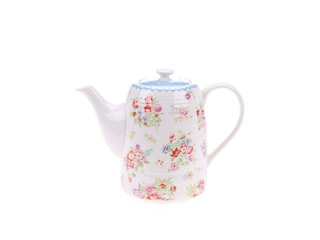 Bílá čajová konvička s květinovým motivem Cath Kidston