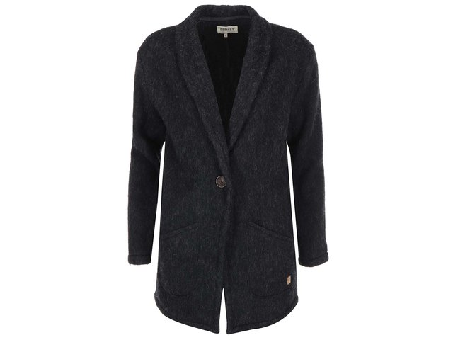 Tmavě šedý žíhaný kabát Desires Reese