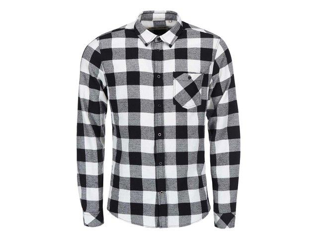 23eab037228 Bílo-černá kostkovaná košile !Solid Ryton