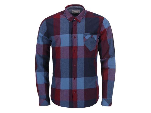 Modro-vínová kostkovaná košile !Solid Roger