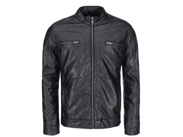 Černá koženková bunda !Solid Rigby