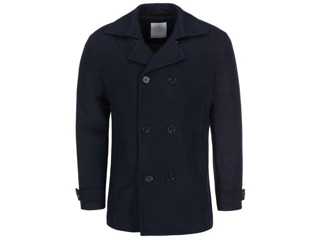 Tmavě modrý dvouřadý kabát Tailored & Originals Give