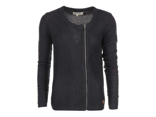 Tmavě šedý svetr na zip Desires Reggie