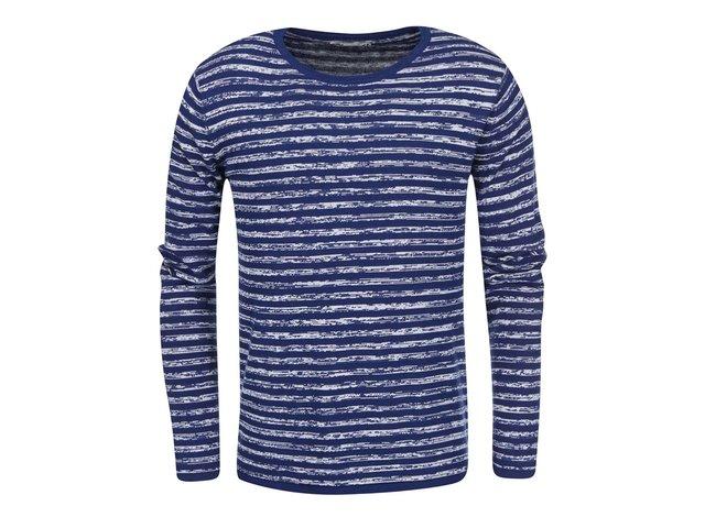 Modrý svetr s pruhy !Solid Steno