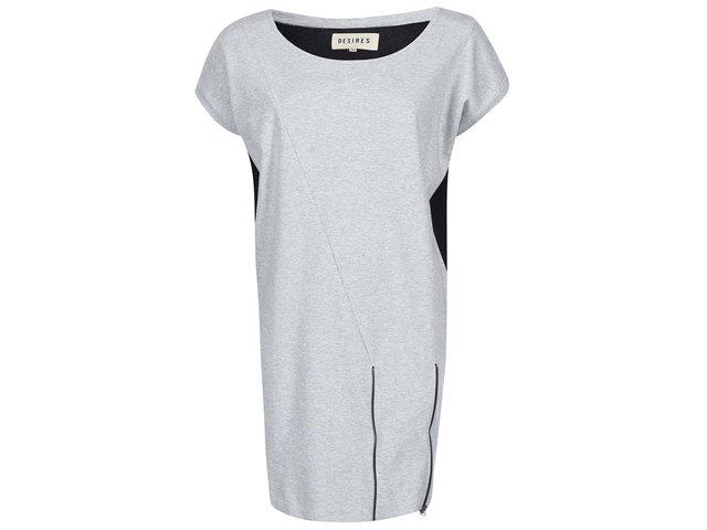 Světle šedé volnější šaty Desires Lixin