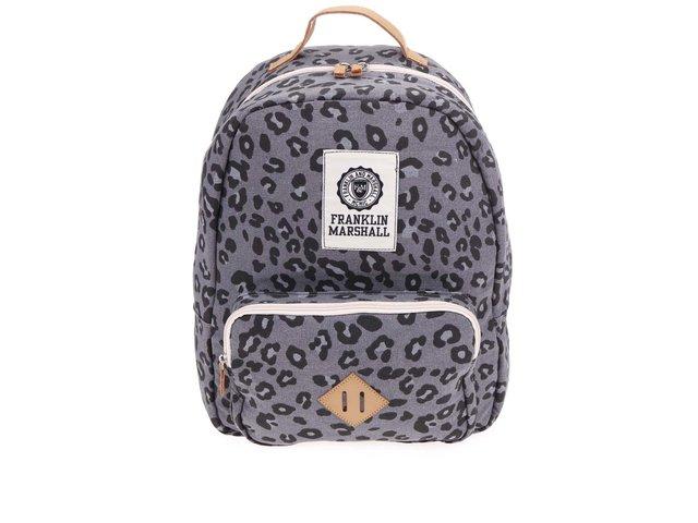 Šedý dámský batoh s leopardím vzorem Franklin & Marshall