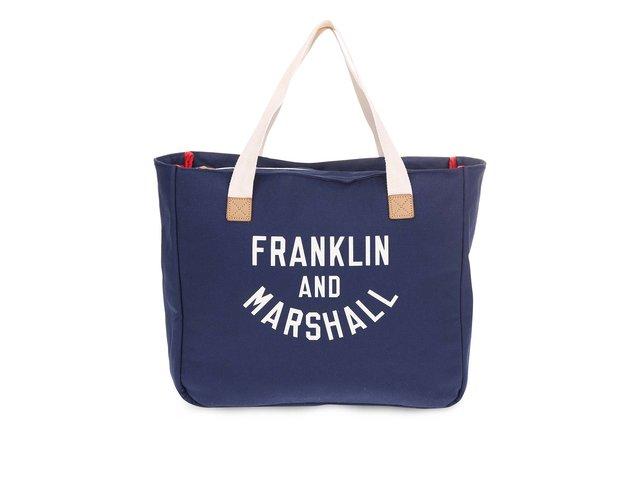Tmavě modrý shopper Franklin & Marshall