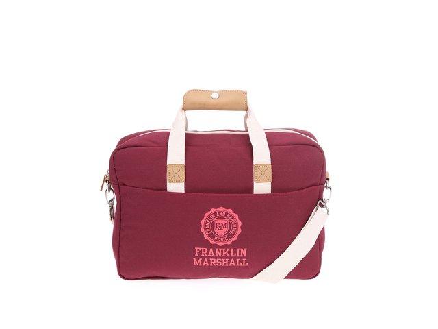 Vínová unisex taška na notebook Franklin & Marshall