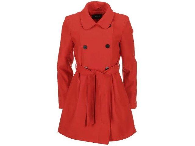 Červený dlouhý kabát VILA Kimra