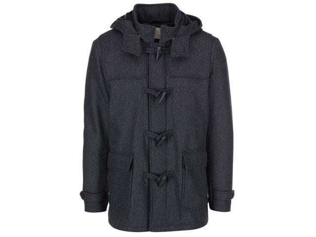 Tmavě šedý vlněný kabát Selected Carlyle
