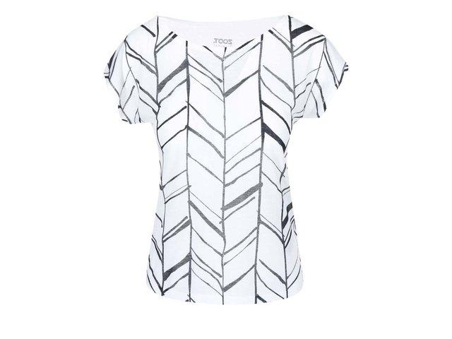Černo-bílé dámské tričko s potiskem ZOOT Originál Trojúhelníky