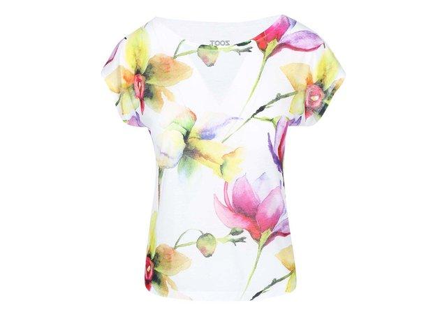 Krémové dámské tričko s potiskem ZOOT Originál Květiny