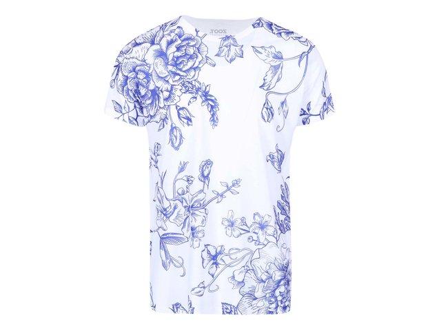 Modro-bílé pánské triko se vzorem ZOOT Originál Porcelán