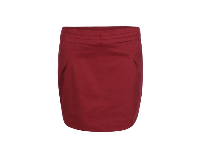 Tmavě červená sukně s kapsami Skunkfunk Patrice
