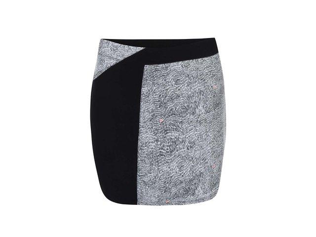 Černo-šedá sukně s potiskem Skunkfunk Gure