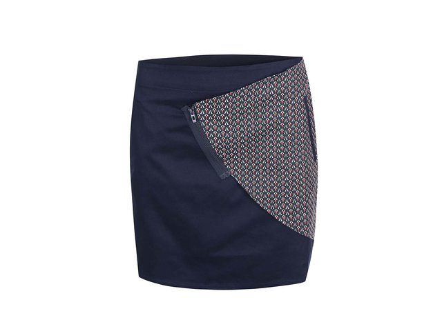 Tmavě modrá vzorovaná sukně Skunkfunk Eldua