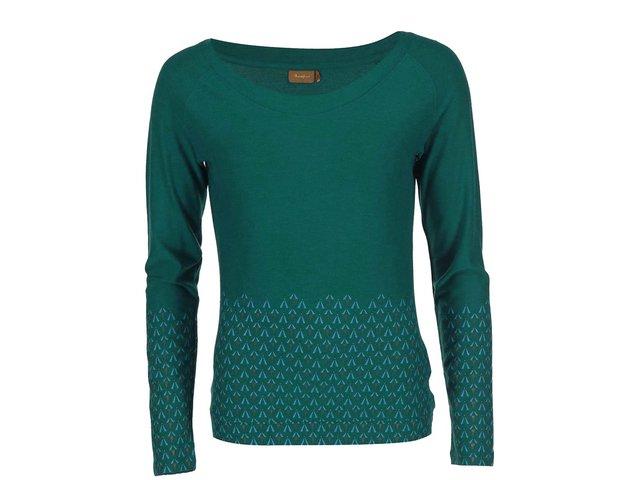 Zelené vzorované triko s dlouhým rukávem Skunkfunk Andregaila