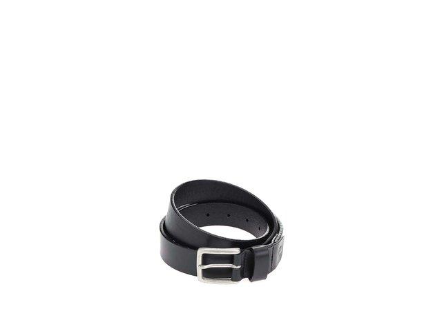 Černý kožený pásek Selected Carson