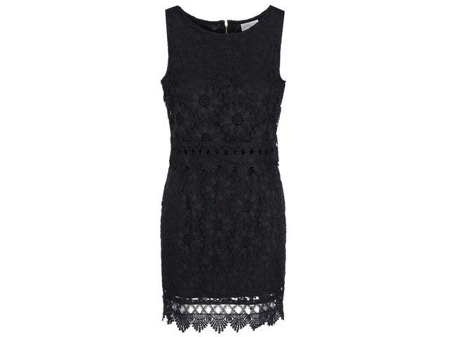 Černé krajkované šaty Apricot