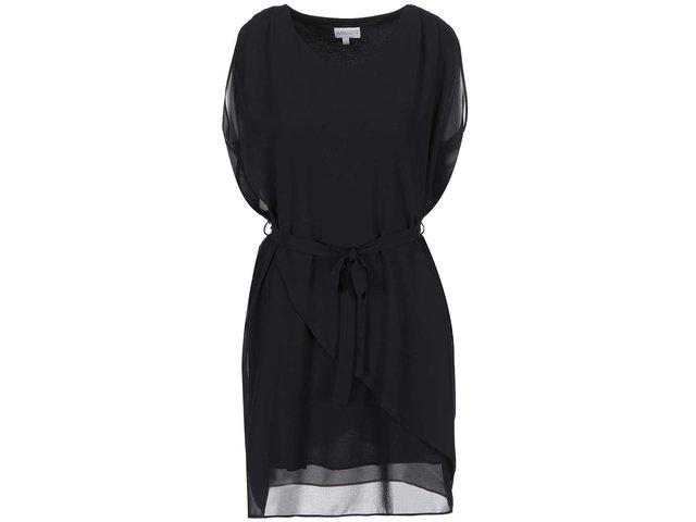 Černé vrstvené šaty Apricot