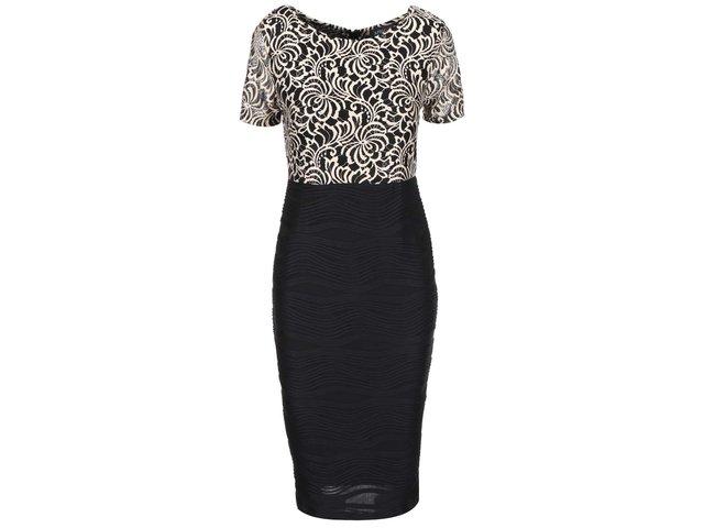 Černé šaty s krajkovým zdobením Apricot