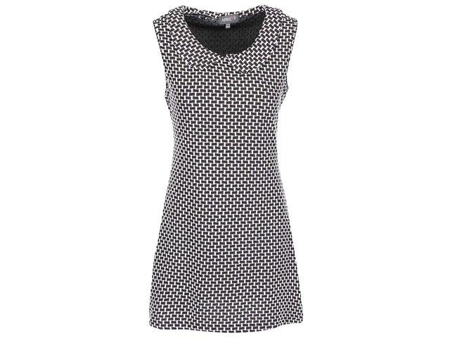 Bílo-černé šaty s límečkem Apricot