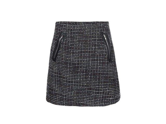 Černá vzorovaná sukně se zipy Apricot