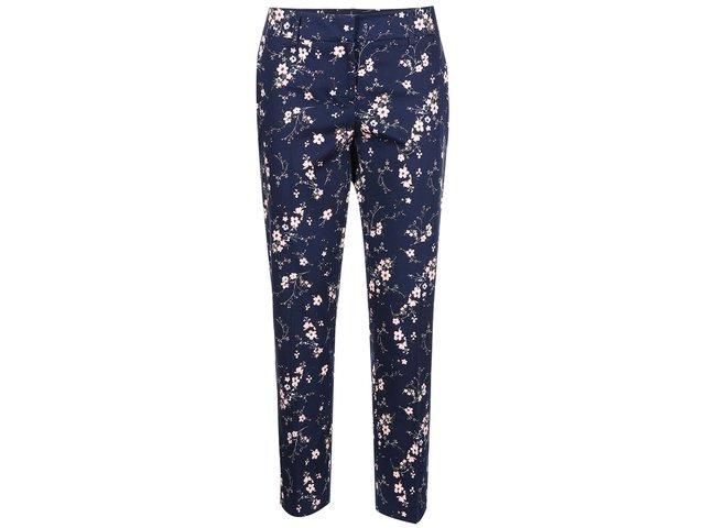 Tmavě modré květované kalhoty Apricot