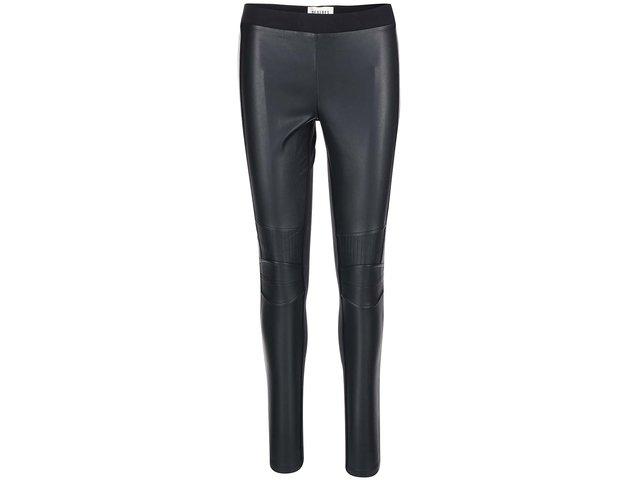 Černé dámské koženkové kalhoty Desires Larus