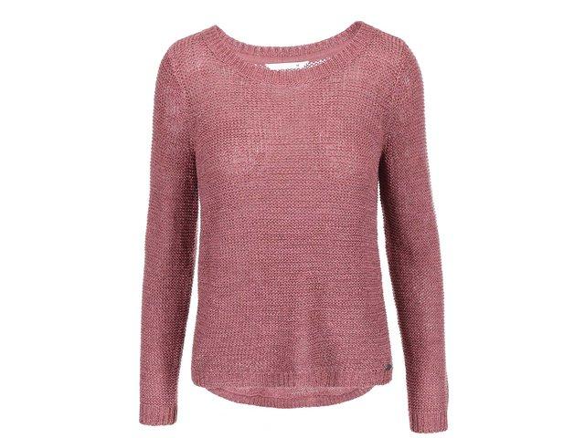Starorůžový volnější svetr ONLY Geena