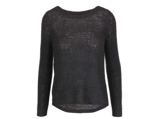 Tmavě šedý volnější svetr ONLY Geena