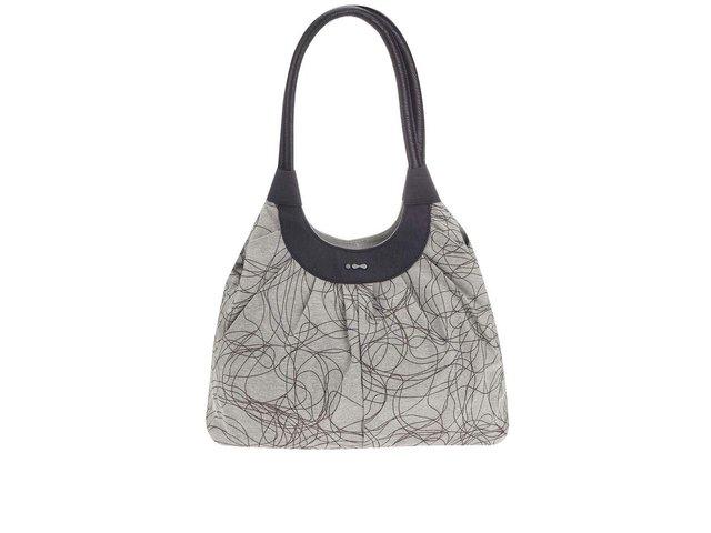 Černo-šedá vzorovaná  kabelka Skunkfunk Rasquera