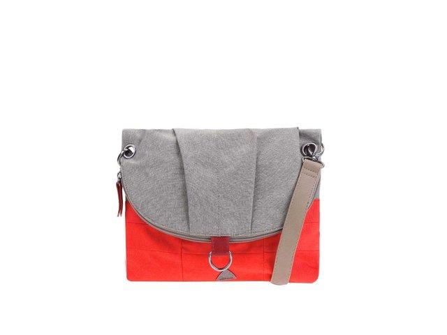 Šedo-červená kabelka Skunkfunk Ivorra