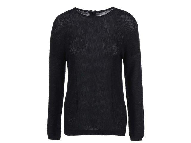 Černý svetr s ozdobným zipem na zádech ONLY Robin