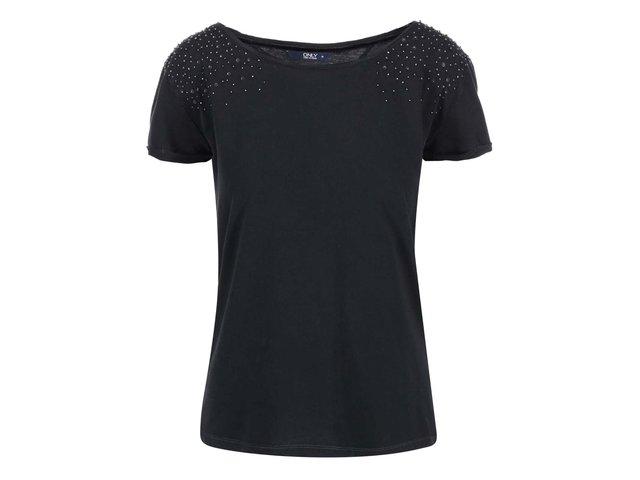 Tmavě šedé tričko s kovovými aplikacemi ONLY Elif