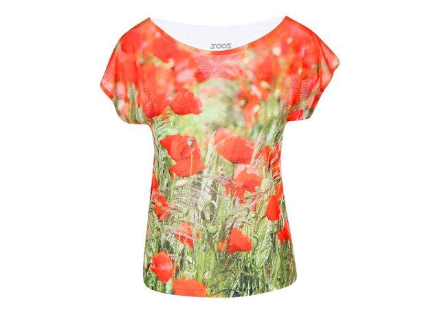 Barevné dámské tričko s potiskem ZOOT Originál Vlčí máky