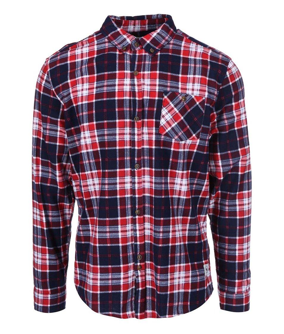 Modro-červená pánská flanelová košile Bellfield Conifer