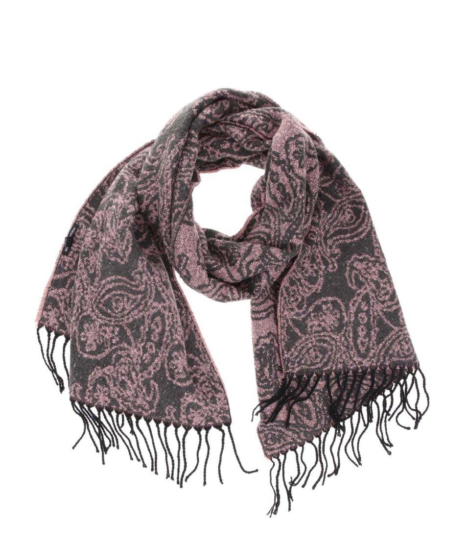 42581f6d3d7 Růžová šála s kašmírovým vzorem INVUU London - Vánoční HIT!