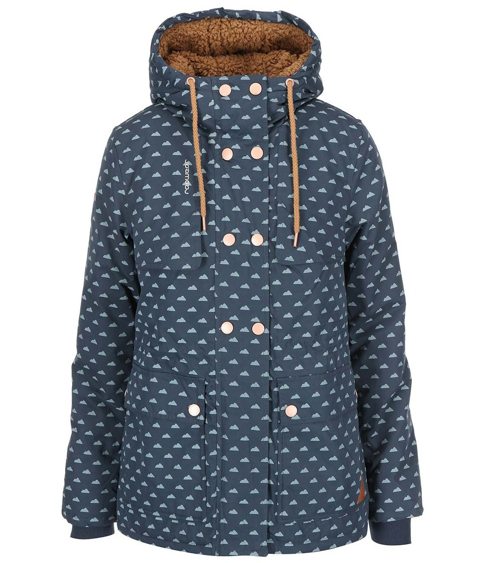 Šedomodrá dámská bunda Ragwear Luna